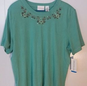 Alfred Dunner Short Sleeve Size XL Blouse